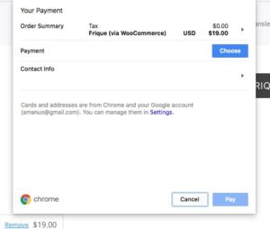 How to remove the Stripe Payment Request button | frique me